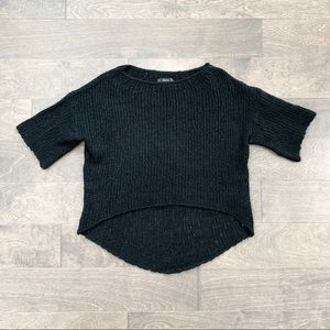 Zara Knit Black High-Low Sweater